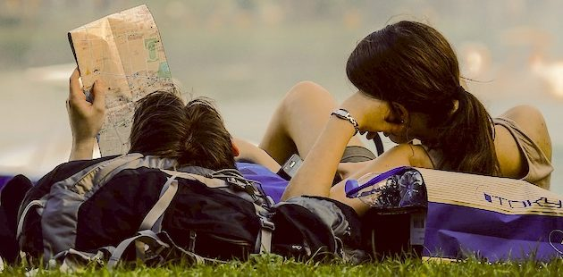 mensen duurzaam met vakantie