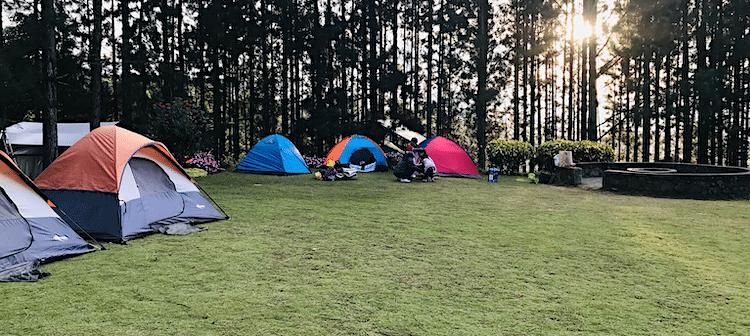 kamperen in eigen land