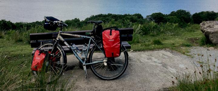 op de fiets met vakantie